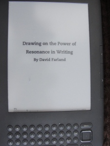 Reading David Farland's book on my Kindle!!!