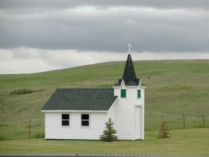 A country church in North Dakota