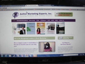 The Author Marketing Experts, Inc. web site as pulled up on my computer....I admit, I'm intrigued.