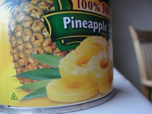 Canned Pineapple. Imaginary Hawaii still has a chance.